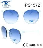2017 Latest Italy Fashion Style Frame Plastic Sunglasses (PS1572)