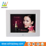 China Supplier Metal 8 Inch Gold LCD Digital Foto Frame with Video MP3 MP4 (MW-087DPF)