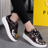 Fashion Women Bright Leather Skate Casual Shoes Srx0907-1 (3)
