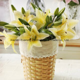 Real Touch Bouquets Artificial Real Touch Lily for Weddings Artificial Flower Latex Lily Flower Wedding Flowers Supplier