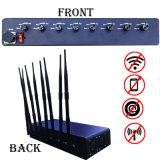 8 Bands Powerfull Power Adjustable Mobile Cell Phone Signal Jammer Blocker