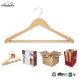 Audited Supplier Lindon Wholesale Natural Color Wooden Hangers