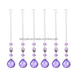 Purple Crystal Suncacther Hanging Prism Crystal Lighting Parts