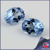 Best Quality Oval Shape 108# Aquamarine Synthetic Spinel