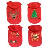 christmas Red Multi Styles Dog Apparel Coat