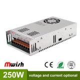 250W AC/DC SMPS 5V/12V/24V/48V Power Supply for LED Lighting with Ce RoHS