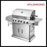 Wholesale Outdoor 6 Burners Kitchen stainless Steel BBQ Gas Grill with Ce
