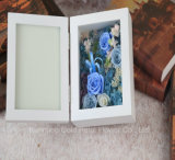 Hot Sell New Gift Unfading Preserved Flower Blue Rose Gift Photo Frame for Wedding Decoration
