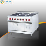 Commercial Stainless Steel 6 Burner Electric Hot Plate Stove for Cooker with Oven