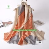 Fashion New Printed Stain Silk High Quality Scarf for Lady