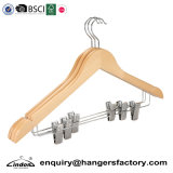 Wholesale Natural Wooden Suit Clothes Hangers with Clips