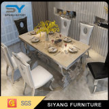 Kitchen Furniture Steel Textilene Chair Marble Table Stainless Steel Table