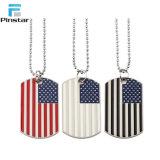 Fashion American Flag Wholesale Multicolor Enamel Pendant Necklace