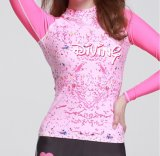 2016 Body Shape Lady′s Wetsuit & Long Sleeve Printed Beachwear (CL727)