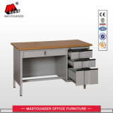 Office Excutive Secretary Large Metal Desk Table with 3 Drawers