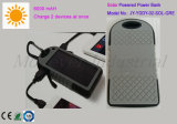 2 USB Port 6000mAh Solar Charged Power Bank for Laptop