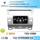Car DVD for Citroen C4 with Built-in GPS A8 Chipset RDS Bt 3G/WiFi 20 Dics Momery (TID-C088)