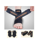 1PC Adjustable Ankle Support Pad Outdoors Sport Protector Braces Belt Bandage for Football Basketball Trainer Left Foot Z16101