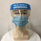Guangdong Factory High Transparent Full Face Protection Face Shield Helmet Pet Reusable Protective Face Shield with Splash Guard