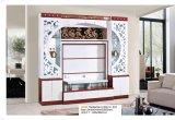 Living Room Wood White Black Hall TV Cabinet