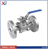 3PC Flanged Stainless Steel Ball Valve with Anti-Static Device