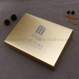 Golden Color High Quality Christmas Gift Boxes with Silver Printing