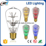 Free Sample UL 3W 110V 220V ST64 LED Light Bulb Colorful Light