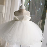 Newest Ruffled Tulle Ivory Girl Dress for Wedding