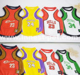 Basketball Team Dog Clothes, Polyester Pet Sports Clothing