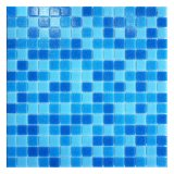 Hot Melt Square Blue Mixed 20X20mm Glass Mosaic Tile for Swimming Pool