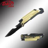 """5""""3Cr13 S. Steel Black Coated Blade Closed Spring Assistant Pocket Folding Knife"""