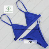 2018 Newest European Sexy Swimwear Plain Fashion Ladies Bikini Swimwear