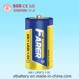 IEC Standard 1.5V Farer Super Alkaline Dry Battery (Lr20 D, Am-1)