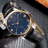 374 Classical Calendar Quartz Watch Luxury Wrist Watch for Men