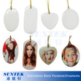 Wholesale DIY Sublimation Blank Ceramics Christmas Ornaments Pendants
