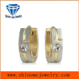Fashion Gold CZ Stone Stainless Steel Jewelry Earring