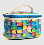 China Wholesale Custom Logo Colorful Check Makeup Bag Set Cosmetic Bag Women