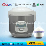 Stainless Steel Body Deluxe Rice Cooker, White Control Panel