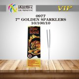 0977-7inch Golden Sparklers Outdoor Indoor Safe Cheap Flameless Party City Wedding Fireworks