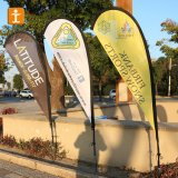 2.5 Meters Teardrop Outdoor Flying Banner Promotion Advertising Polyester Beach Flags