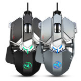 Hot Selling RGB 7 Buttons 7200 Dpi Wired Gaming Mouse USB Computer Mouse Gamer Mice with Cooling Fan Gaming Mouse