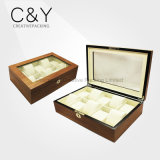 Large Clear Window Wooden Watch Case for 10 Watches