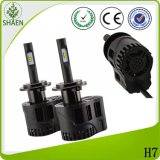 Automobile Lighting Build in Driver Fanless LED Auto Headlight H7