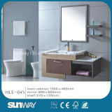 Hot Wall Hung Modern Stainless Steel Cabinet with Mirror