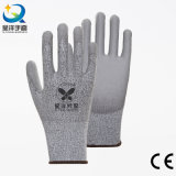 PU004 Cut Resistance PU Coated Safety Work Glove Level 3 or 5