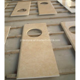 Chinese Cheap and Hot Sell Beige Marble Used for Countertops and Vanity Tops and Table Tops and Worktops and Work Bench.