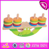 2014 New Balance Block Toys Animal Wooden Balance Game, Children Wooden Balance Game Toy, Baby Wooden Balance Game Set W11f015