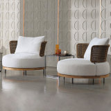 Nordic Design Teak Wood Outdoor Furnitures Garden Furniture Sofa Set