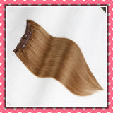 Hot Sale Brazilian Clip-in Hair Extensions Silky 18inch Brown Color