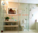 Bathroom and Curved Tempered Glass,
